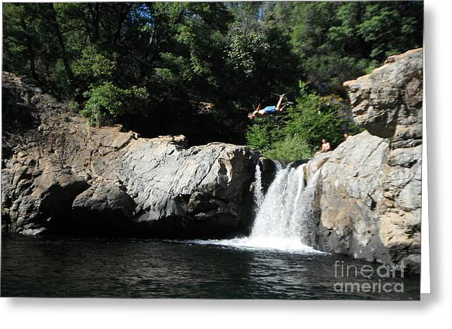 Diving In California Greeting Cards - Men Just Want To Have Fun Greeting Card by Paddy Shaffer