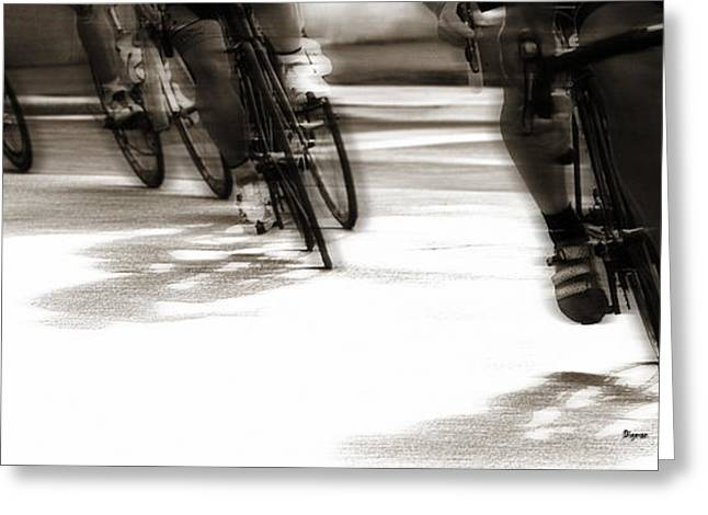Sports Digital Art Greeting Cards - Men who ride Greeting Card by Steven  Digman