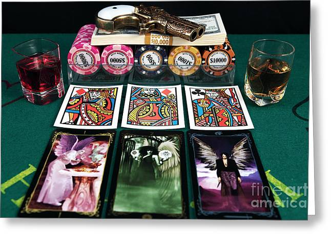 Still Life Photographs Greeting Cards - Menage A Trois Greeting Card by John Rizzuto