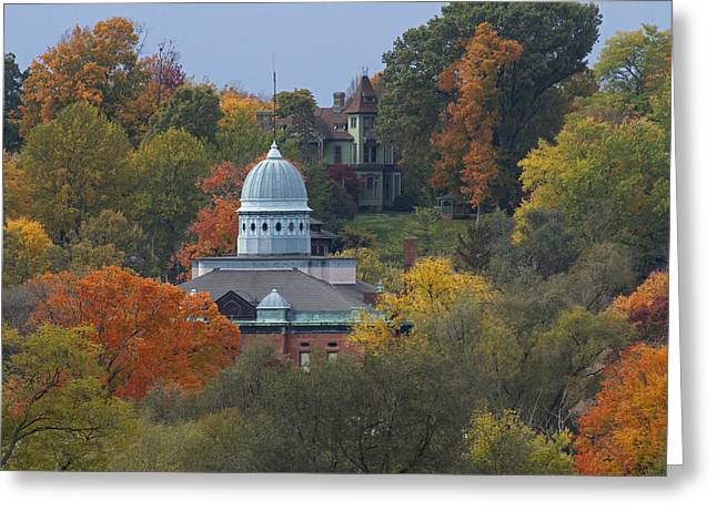 Menard Greeting Cards - Menard County Courthouse Greeting Card by Eric Mace