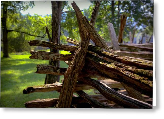 Split Rail Fence Greeting Cards - Mending Fences Greeting Card by Karen Wiles