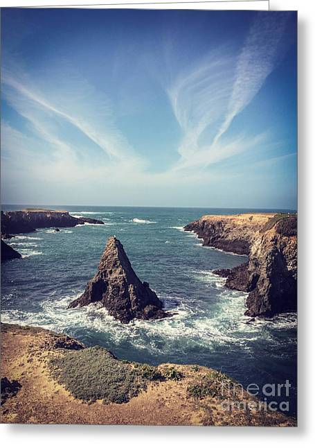 Headlands Greeting Cards - Mendocino Greeting Card by Colin and Linda McKie