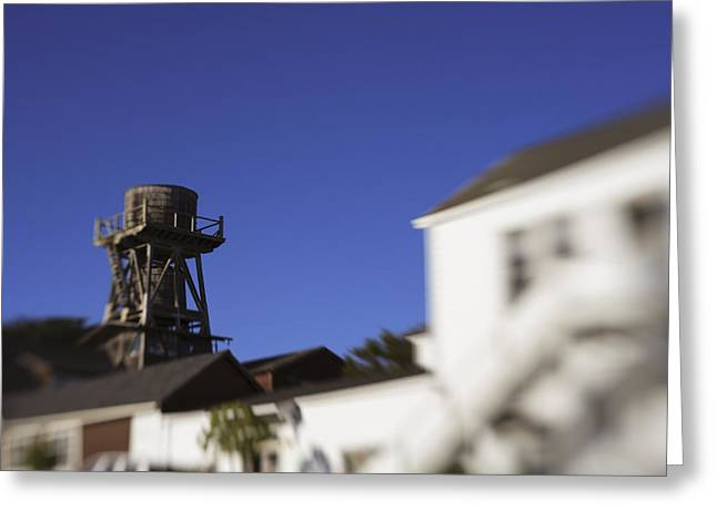 Blur Greeting Cards - Mendocino Water Tower Greeting Card by Scott Campbell