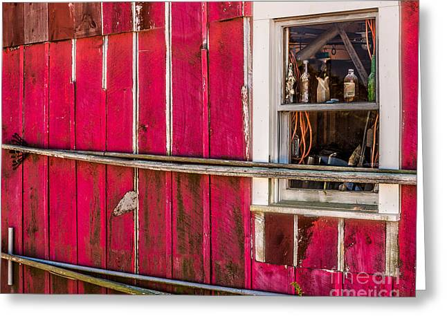 New England Village Greeting Cards - Menemsha Fishing Shack Greeting Card by Susan Cole Kelly Impressions