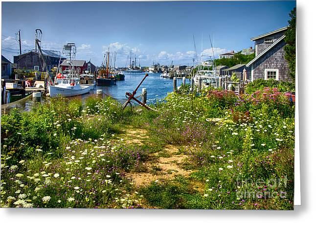 Recently Sold -  - Docked Boat Greeting Cards - Menemsha Greeting Card by Mark Miller
