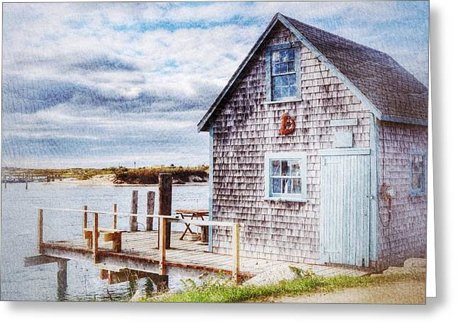 Recently Sold -  - New England Village Greeting Cards - Menemsha Shack Greeting Card by Rosemary Hildreth
