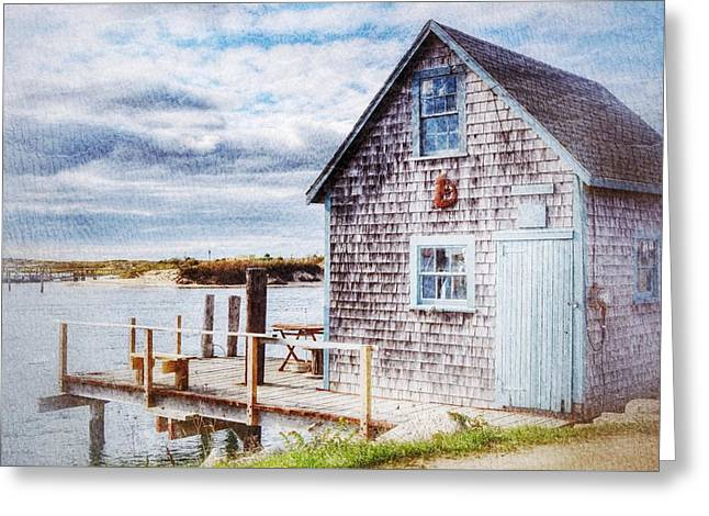 Recently Sold -  - Fishing Creek Greeting Cards - Menemsha Shack Greeting Card by Rosemary Hildreth