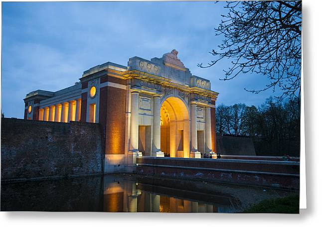 Ypres Greeting Cards - Menin Gate Greeting Card by Gary Phillips