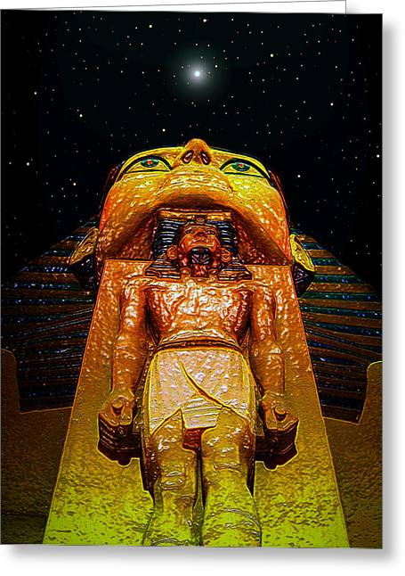 Pharaoh Digital Art Greeting Cards - Menkheperres Super Nova Greeting Card by David Lee Thompson