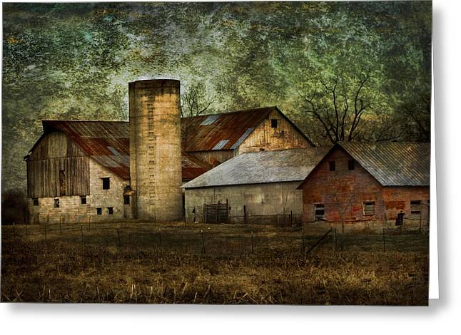 Tennessee Barn Digital Art Greeting Cards - Mennonite Farm in Tennessee USA Greeting Card by Kathy Clark