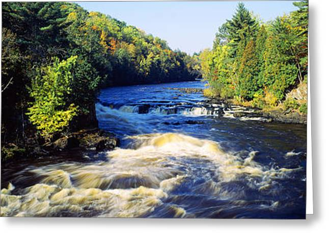 Upper Peninsula Greeting Cards - Menominee River At Piers Gorge, Upper Greeting Card by Panoramic Images