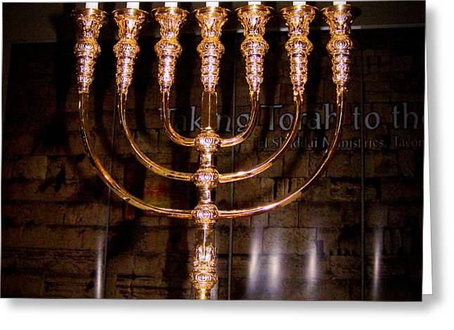 Menorah Greeting Card by Roger Reeves  and Terrie Heslop
