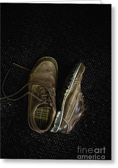 Mens Shoe Greeting Cards - Mens Greeting Card by Margie Hurwich
