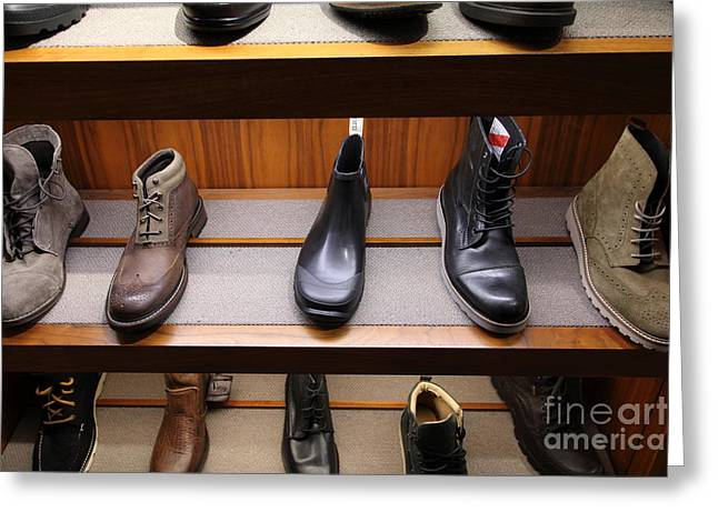 Men Shoes Greeting Cards - Mens Shoes - 5D20645 Greeting Card by Wingsdomain Art and Photography