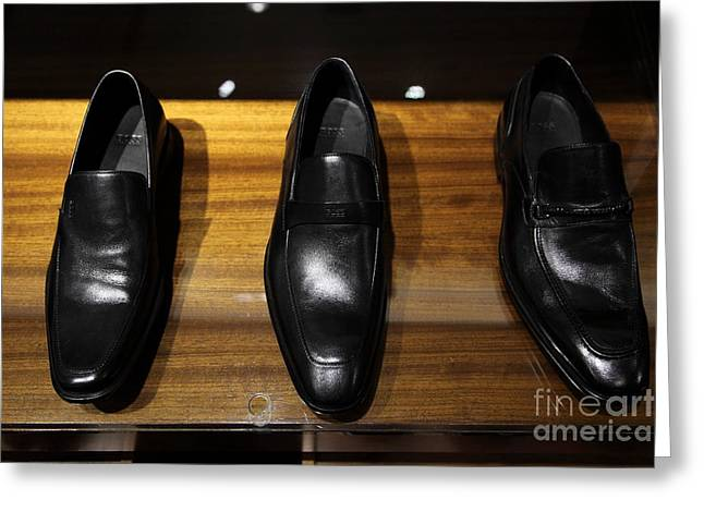 Men Shoes Greeting Cards - Mens Shoes - 5D20646 Greeting Card by Wingsdomain Art and Photography
