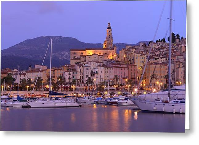Menton Greeting Card by Christian Heeb