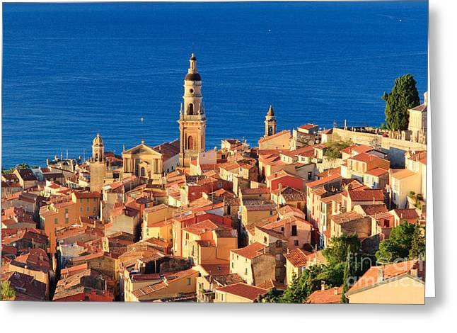 Menton Greeting Cards - Menton Cote dAzur France Greeting Card by Matteo Colombo