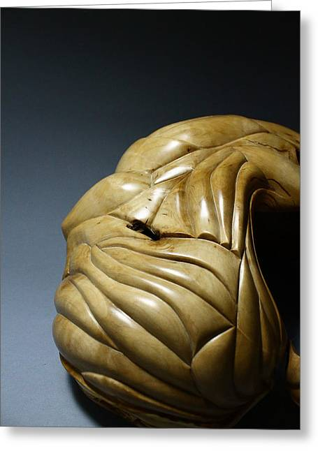 Wooden Sculpture Greeting Cards - Mentor 7 Greeting Card by Abram Barrett