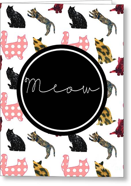 Meow Greeting Card by Pati Photography