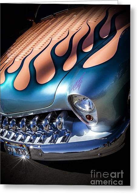 Custom Roadster Greeting Cards - MERC METAL- Metal and Speed Greeting Card by Holly Martin