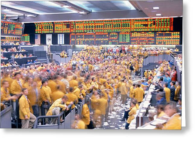 Transactions Greeting Cards - Mercantile Exchange, Trading, Chicago Greeting Card by Panoramic Images