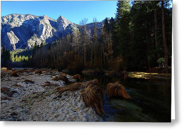 Mariposa County Greeting Cards - Merced River Beach Greeting Card by Scott McGuire