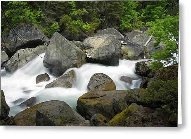 Merced River Greeting Card by Chuck De La Rosa