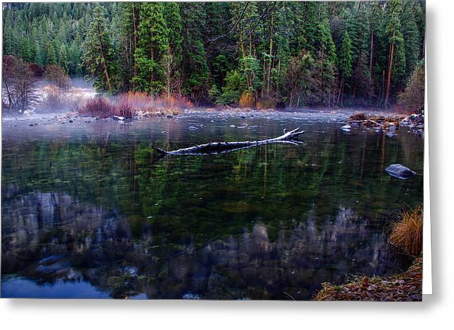 Merced River Riverscape Greeting Card by Scott McGuire