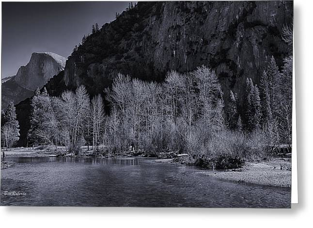 Half Dome Greeting Cards - Merced River Scene Greeting Card by Bill Roberts
