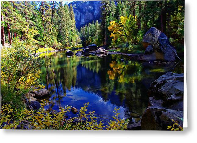 Scott Mcguire Photography Greeting Cards - Merced River Yosemite National Park Greeting Card by Scott McGuire