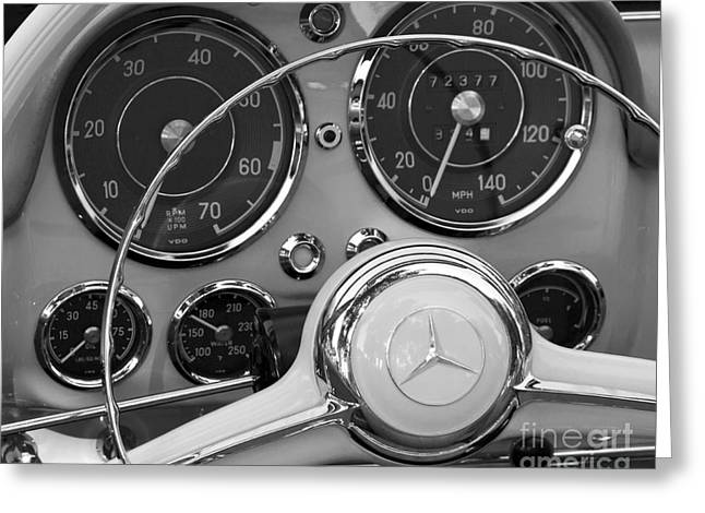 Recently Sold -  - Steering Greeting Cards - Mercedes 190 SL Greeting Card by Dennis Hedberg