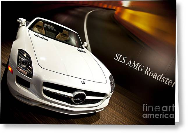 Kamil Greeting Cards - Mercedes AMG Roadster 01 Greeting Card by Kamil Swiatek