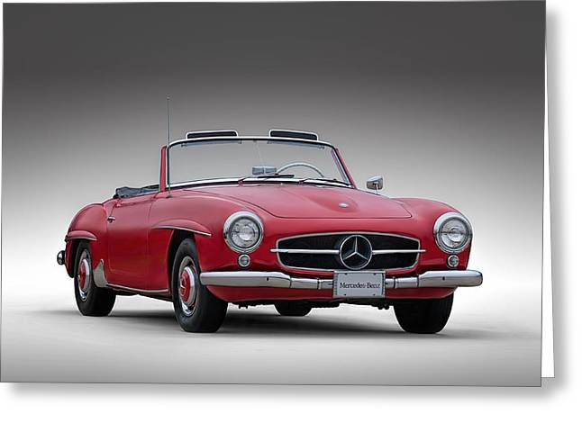 Touring Car Greeting Cards - Mercedes-Benz 190 SL Greeting Card by Douglas Pittman