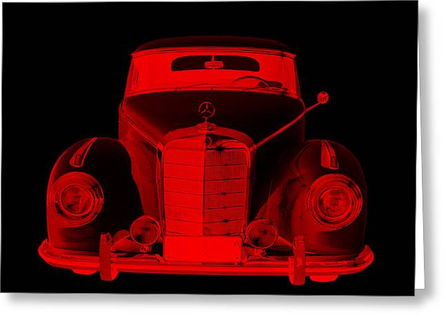 Old Auto Greeting Cards - Mercedes Benz 300 Luxury Car Modern art Greeting Card by Keith Webber Jr
