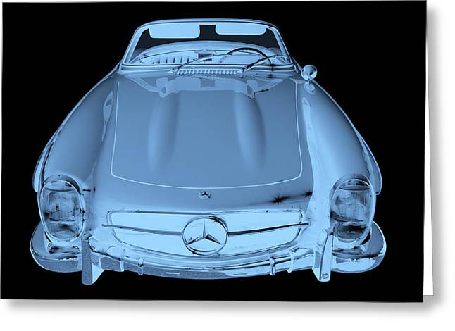 Old Auto Greeting Cards - Mercedes Benz 300 SL Convertible Modern Art Greeting Card by Keith Webber Jr