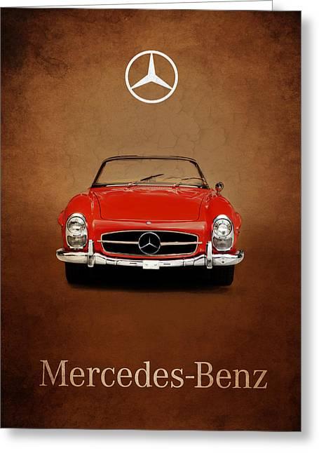 Mercedes Greeting Cards - Mercedes Benz 300SL Greeting Card by Mark Rogan