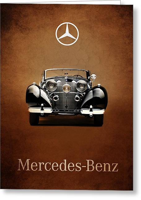 Mercedes Benz. Greeting Cards - Mercedes Benz 540K Greeting Card by Mark Rogan