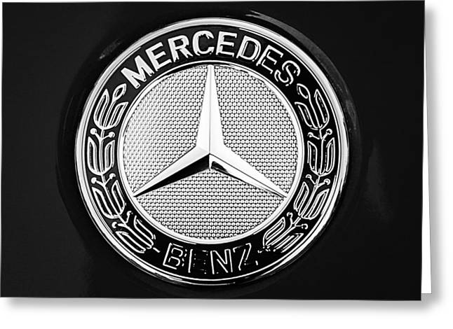 Car Photography Greeting Cards - Mercedes-Benz 6.3 Gullwing Emblem Greeting Card by Jill Reger