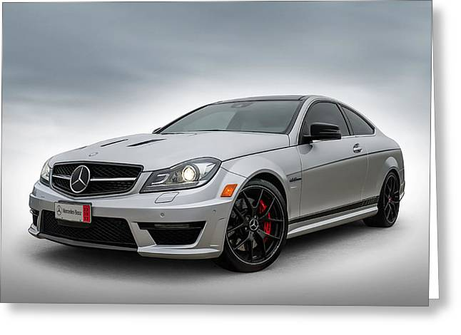 Mercedes Benz. Greeting Cards - Mercedes Benz AMG C63 Edition 507 Greeting Card by Douglas Pittman