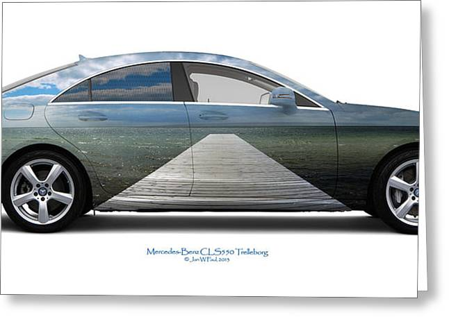 Kattegat Greeting Cards - Mercedes-Benz CLS550 Trelleborg Greeting Card by Jan Faul