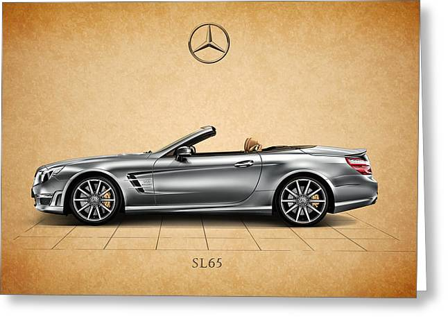 Mercedes Benz. Greeting Cards - Mercedes Benz SL 65 AMG Greeting Card by Mark Rogan