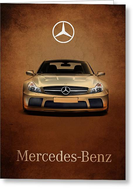 Mercedes Benz. Greeting Cards - Mercedes Benz SL65 Greeting Card by Mark Rogan