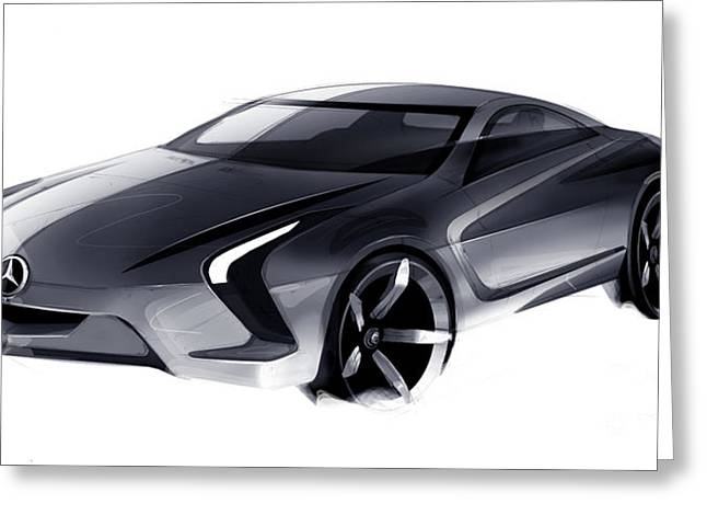 Ev Greeting Cards - Mercedes-Benz SLK concept no.1 Greeting Card by Marianna Merenmies