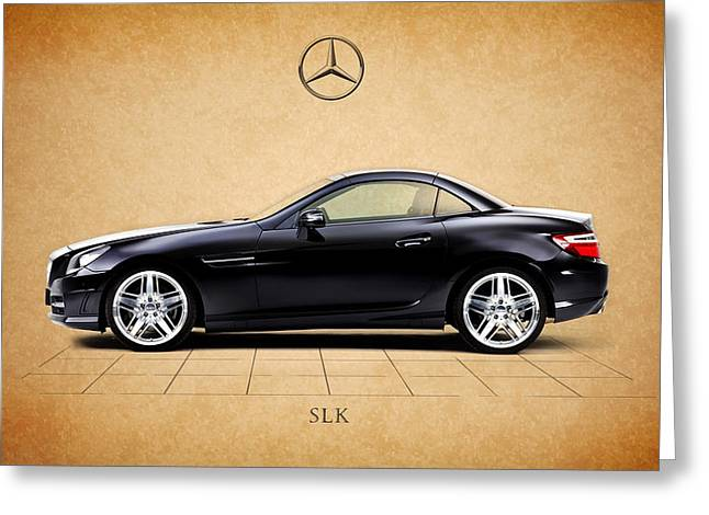 Mercedes Benz. Greeting Cards - Mercedes Benz SLK Greeting Card by Mark Rogan