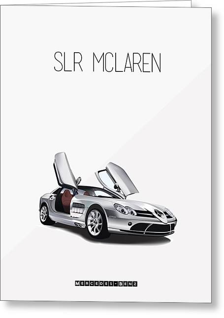 Slr Greeting Cards - Mercedes-Benz SLR McLaren Iconic Poster Greeting Card by Florian Rodarte