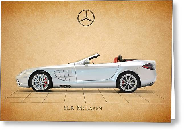 Mercedes Greeting Cards - Mercedes Benz SLR Mclaren Greeting Card by Mark Rogan