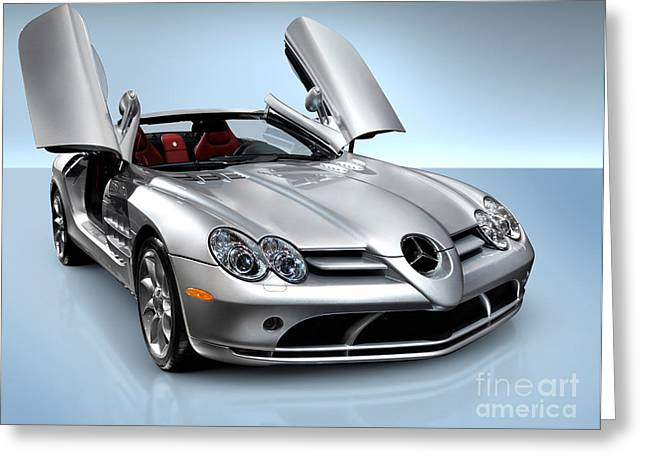 Auto Show Greeting Cards - Mercedes Benz SLR McLaren Greeting Card by Oleksiy Maksymenko