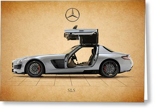 Mercedes Benz. Greeting Cards - Mercedes Benz SLS Greeting Card by Mark Rogan