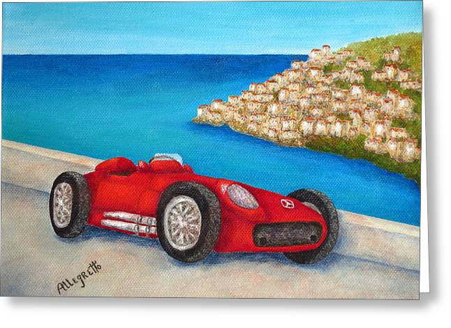 Allegretto Art Greeting Cards - Mercedes Benz W196 Formula Greeting Card by Pamela Allegretto