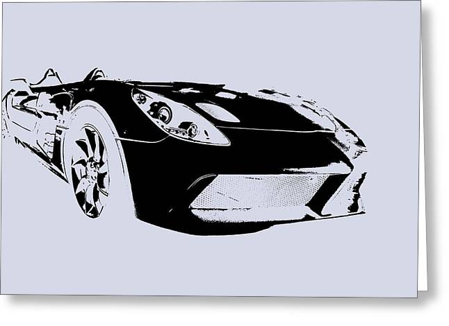 Stirling Moss Greeting Cards - Mercedes SLR Stirling Moss Greeting Card by Jose Bispo